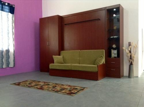 Modular Wall Bed With Wardrobe And Display And Sofa Futur Decor Solutions Pvt Ltd
