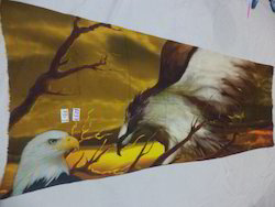 Fine Merino Wool With Eagle Digital Printed Shawls