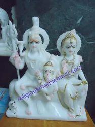 Marble Shiva Parvati Murti