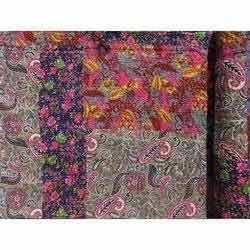 Printed Patchwork Kantha Quilt