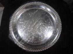 2db9dba86f6cb Ekaani Brand Silver Plated Round Tray