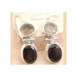 Black Rutilated Quartz Earring