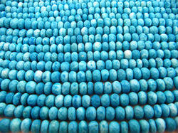 Blue Turquoise Faceted Beads 7mm ,Magnesite Rondelle 8