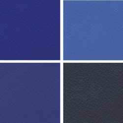 Blue Manmade Leather Cloth