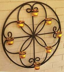 Round Candle Sconce