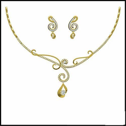 e08939222 Real Diamond Gold Necklace | Bluemoon World Procon Ltd. | Wholesale ...