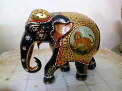 Wooden Emboss Painting Elephant