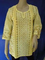 Smart Short Yellow Cotton Top
