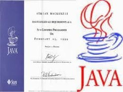 Certificate in JAVA