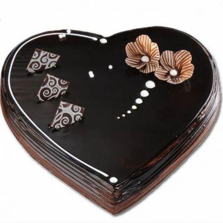 Chocolate Exotica Heart Cake च कल ट क क Blooms Bay