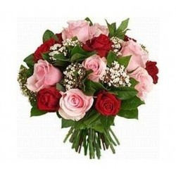 Red & Pink Roses Bunch