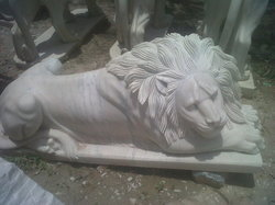 Marble Sitting Lion