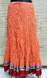 Sanganeri Print Cotton Long Skirts