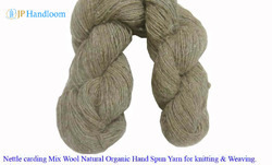 Nettle Mix Wool Handspun Knitting Yarn