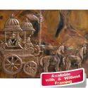 Arjun Rath Large Metal Wall Mural Of Religious Theme Indian Folk Art