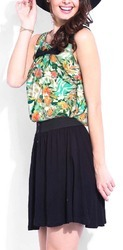 Weightless Floral Sleeveless Tops Fabric