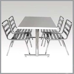 Stainless Steel Table & Chair