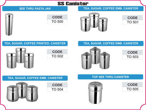 Stainless Steel Canister | Tohana Overseas | Manufacturer in