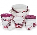 Cello 8 Pc Printed Bathroom Set - Hot Stamping