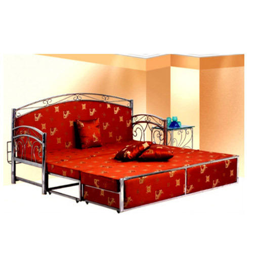 Stainless Steel Red Sofa Cum Bed Size 6 X 6 Feet Rs 17500 Piece
