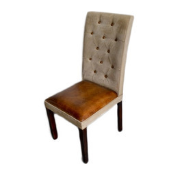 Stylish Wooden Leather Chair
