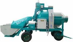 Electric Engine Reversible Drum Concrete Mixer, Drum Capacity: 1000 L