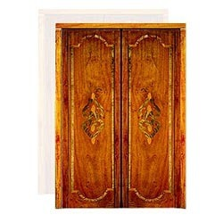 Antique Wooden Marble Inlay Doors