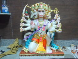 Panchmukhi Hanuman Ji Marble Statue