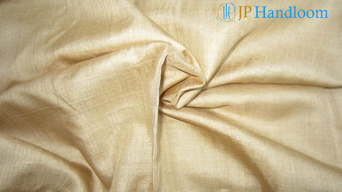 Golden Muga Silk Fabric Golden Muga Silk Plain Fabric
