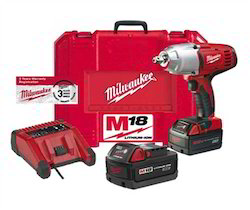 520 Nm Milwaukee Battery Operated Impact Wrench, 0-1700 Rpm, 6.3 Lbs