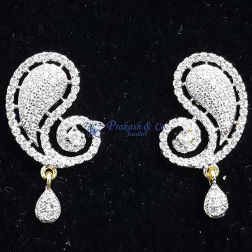 528b19a8440 Prakash White American Diamond Stone Earring Tops