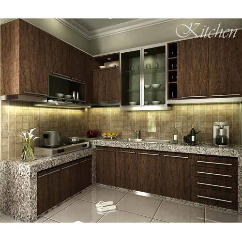 Modern modular kitchen living room plastic furniture for Best material for kitchen cabinets in india