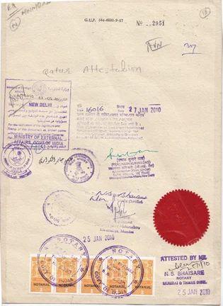 Degree Certificate Attestation Qatar Embassy In Andheri West Mumbai