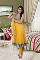 Anarkali Yellow Suit