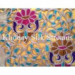 Lace Embroidery Silk Fabric