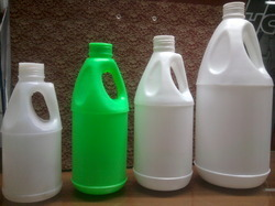 Side Handle Plastic Alovera Juice Bottles