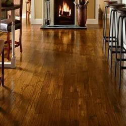 Brown Wood Hard Wooden Flooring, Finish Type: Matte