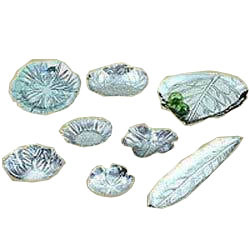 Aluminum Leaf Shaped Trays & Bowls