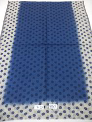 Silk Wool Center Dyed  With Polka Dot Printed Stoles