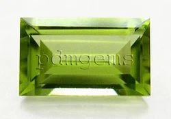 Peridot Faceted Baguette Gemstone