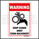 591785 Keep Hands Away Warning Sticker