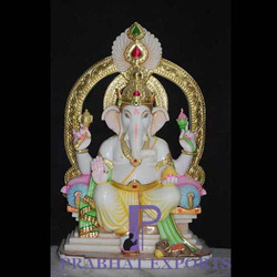 Marble Ganesh Statue With Background