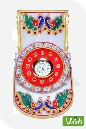 Vaah Marble Mobile Stand with Meenakari
