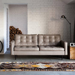 2 Seater Designer Leather Sofa