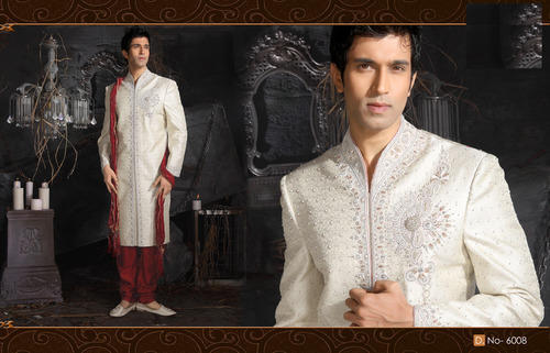 Indian Pakistani Traditional Ethnic Wedding Man Sherwani S1