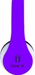 Hangout HO-003 On Ear Wired Headset (Purple)