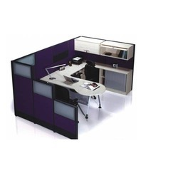 Wooden And Aluminium Low Height Managers Office Cabins
