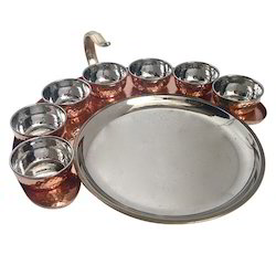 Maurya Copper Thali Set