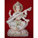 Goddess Saraswati Maa Marble Statue On Lotus