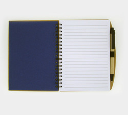 doted eco notebook blue